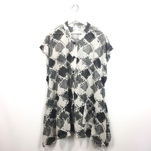 CJ Banks 2X Shirt Tunic Knit Asymmetrical